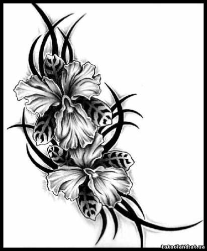 Рисунок для тату орнамент цветы